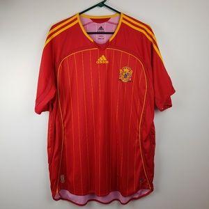 adidas Spain Espana Red Soccer Shirt Jersey XL